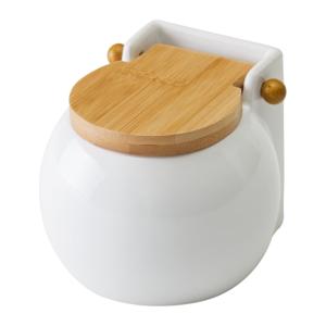 Bílá dóza na sůl s víkem Unimasa Ceramic, 700ml
