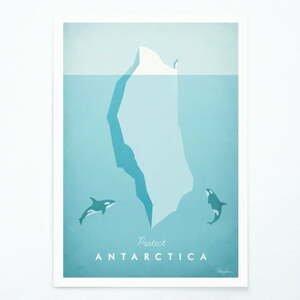 Plakát Travelposter Antarctica, A2