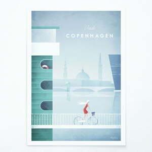 Plakát Travelposter Copenhagen, A2