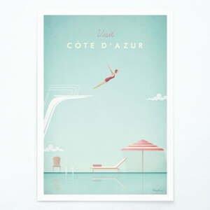 Plakát Travelposter Côte d'Azur, A3