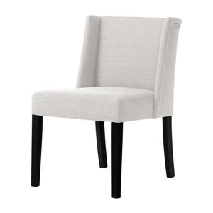 Krémová židle s černými nohami z bukového dřeva Ted Lapidus Maison Zeste