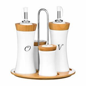 Dochucovací set s bambusovými prvky Premier Housewares Condiment