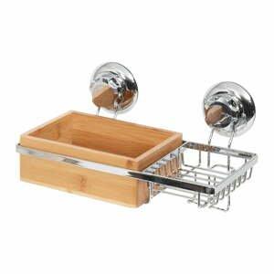 Bambusový nástěnný košík s miskou na mýdlo Compactor Spa