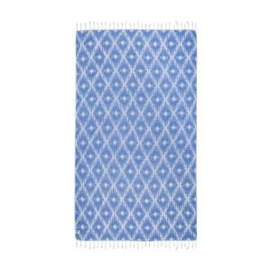 Modrá hammam osuška Kate Louise Calypso, 165x100cm