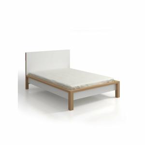 Dvoulůžková postel z borovicového dřeva s úložným prostorem SKANDICA InBig, 200x200cm
