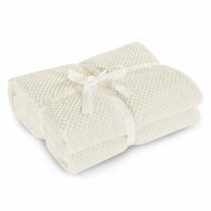 Krémová deka z mikrovlákna DecoKing Henry, 220x240cm