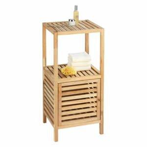 Koupelnová polička z ořechového dřeva s dvířky Wenko Norway