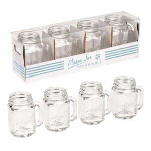 Sada 4 panáků Rex London Mason Jar