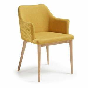 Hořčicově žlutá jídelní židle La Forma Danai