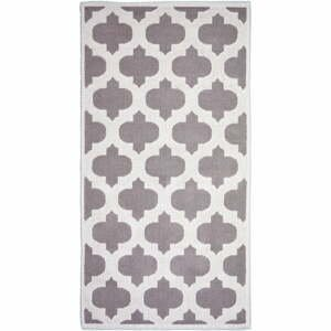Béžový bavlněný koberec Vitaus Madalyon, 60x90cm