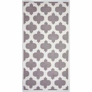 Béžový bavlněný koberec Vitaus Madalyon, 80x200cm