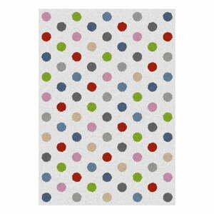 Bílý koberec Universal Norge Dots, 133x190cm