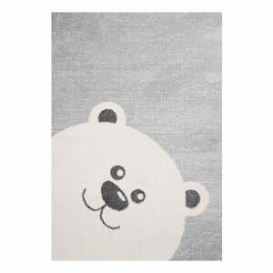 Dětský šedý koberec Zala Living Bear,120x170cm