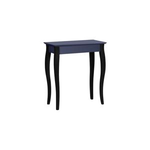 Grafitově šedý konzolový stolek s černými nohami Ragaba Lilo, šířka 65cm