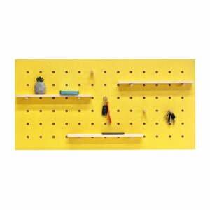 Žlutý nástěnný organizér Ragaba TRIVENTI, 120x60cm