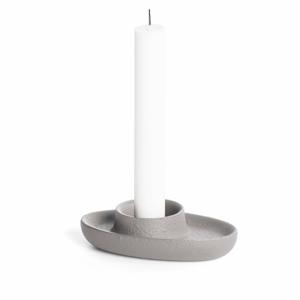 Světle šedý svícen EMKO Aye Aye One Candle
