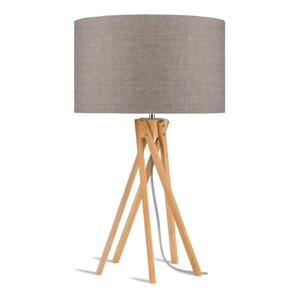 Stolní lampa s béžovým stínidlem a konstrukcí z bambusu Good&Mojo Kilimanjaro
