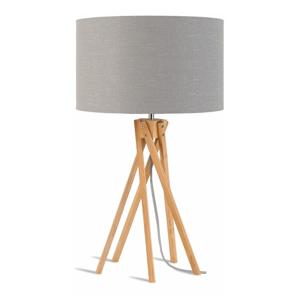 Stolní lampa se světle šedým stínidlem a konstrukcí z bambusu Good&Mojo Kilimanjaro