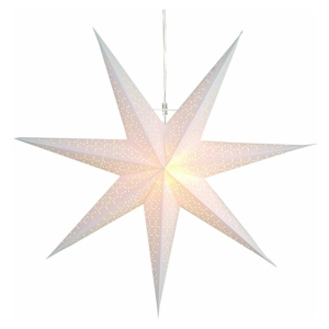Bílá světelná dekorace Star Trading Dot, Ø70 cm