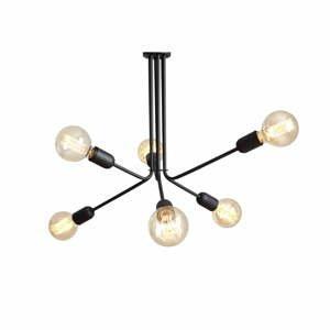 Černé závěsné světlo pro 6 žárovek Custom Form Vanwerk Duo