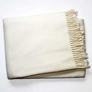 Krémový pléd s podílem bavlny Euromant Basics, 140 x 180 cm