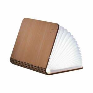Světle hnědá malá LED stolní lampa ve tvaru knihy z javorového dřeva Gingko Booklight