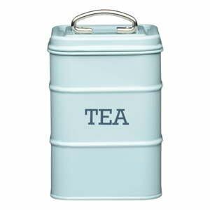 Zelenomodrá plechová dóza na čaj Kitchen Craft Nostalgia