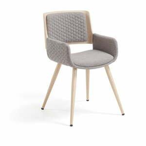Šedá židle La Forma Andre
