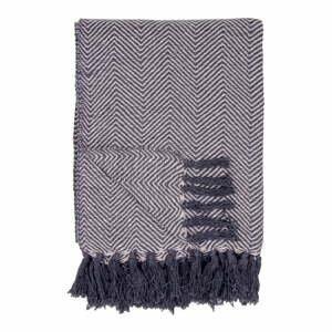 Černobílá bavlněná deka House Nordic Cort,170x130cm