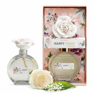 Difuzér s vůní bílé růže HF Living, 190 ml