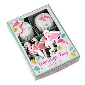Set na zdobení cupcaků Rex London Flamingo Bay