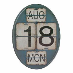 Modrý nástěnný kalendář Geese Time