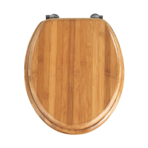 WC sedátko z bambusového dřeva Wenko Bamboo, 42,5 x 37 cm