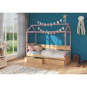 Dětská postel 90x200 cm Quido se zábranou