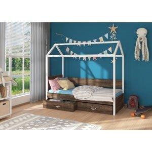 Dětská postel 90x200 cm domeček Quido