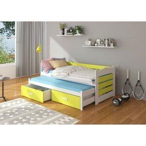 Dětská postel 90x200 cm s přistýlkou Zeya