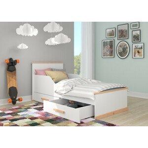 Dětská bílá postel 90x200 cm Glanny