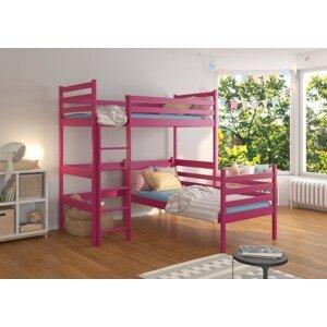 Dětská postel patrová 90x200 cm Coudy