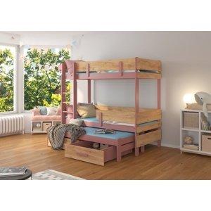 Patrová postel s přistýlkou Bree 90x200 cm