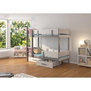 Dětská postel Carey patrová 90x200 cm