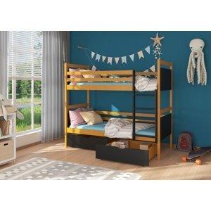 Dětská dvoupatrová postel Casie 80x180 cm