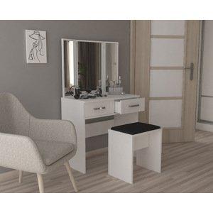 Sestava toaletní stolek se 3 zrcadly + taburet