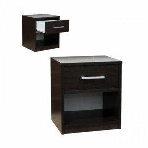 Noční stolek 1 zásuvka + odkládací prostor
