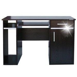 Moderní kancelářský počítačový stůl široký 120 cm s šuplíkem a skříňkou