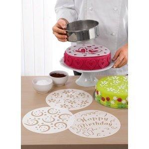 Sada 4 šablon na dort