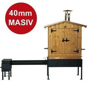 Dřevěná udírna Master Smoker 40 XL s topeništěm