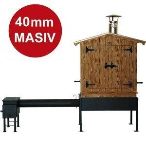 Dřevěná udírna Master Smoker 40 XLD s topeništěm