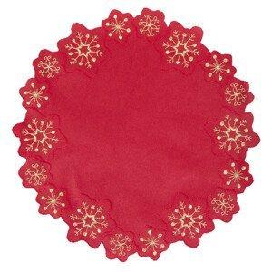 Dekorační ozdobný ubrousek HEXAGON, červená, Ø 30 cm Essex