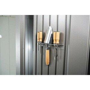 Biohort Držák nářadí k domku Biohort NEO (stříbrná metalíza)