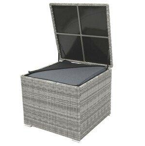 Box na polstry SEVILLA 82 x 82 cm (šedá)